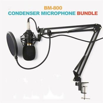 BM800/NW700 Condenser Microphone Kit Pro Professionnel Music Audio Studio Recording & Brocasting Set karaoke for Computer Phone
