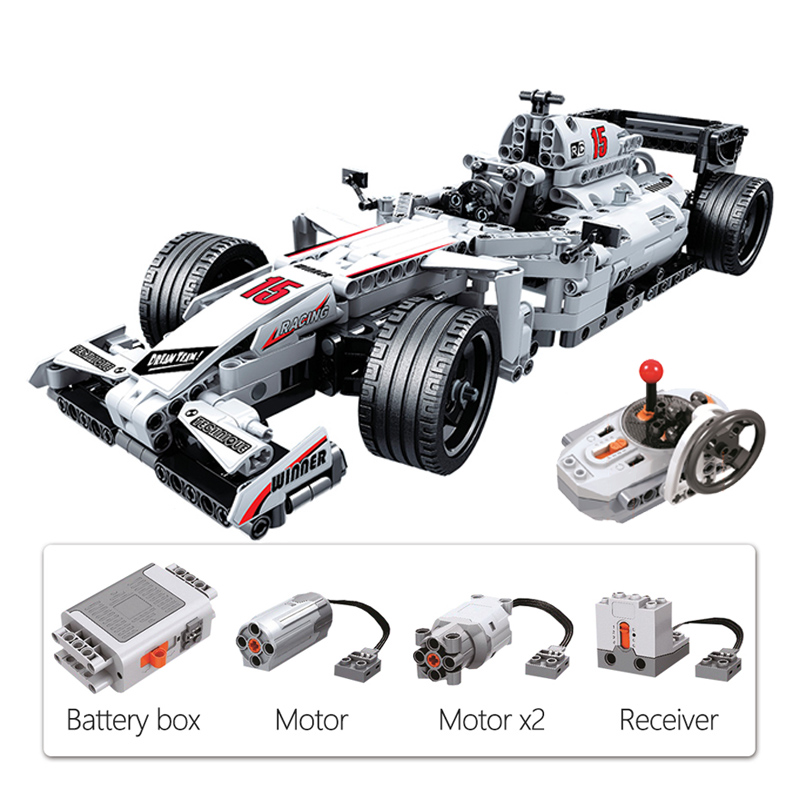 729pcs Creator Expert Technic Remote Control F1 Racing Car Bricks Set RC Car Building Blocks Models Kid Toys for Children Gifts
