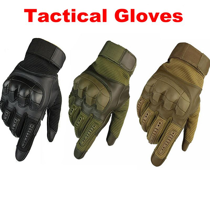 Touch Screen Tactical Gloves Military Army Paintball Shooting Airsoft Combat Hard Rubber Knuckle Motorcycle Full Finger Gloves