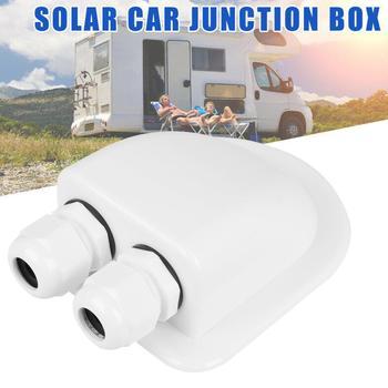 Wodoodporna skrzynka przyłączeniowa ABS podwójny kabel dławik wejściowy do RV panel słoneczny kampery campervans przyczepy kempingowe łodzie tanie i dobre opinie QIYOU CN (pochodzenie)