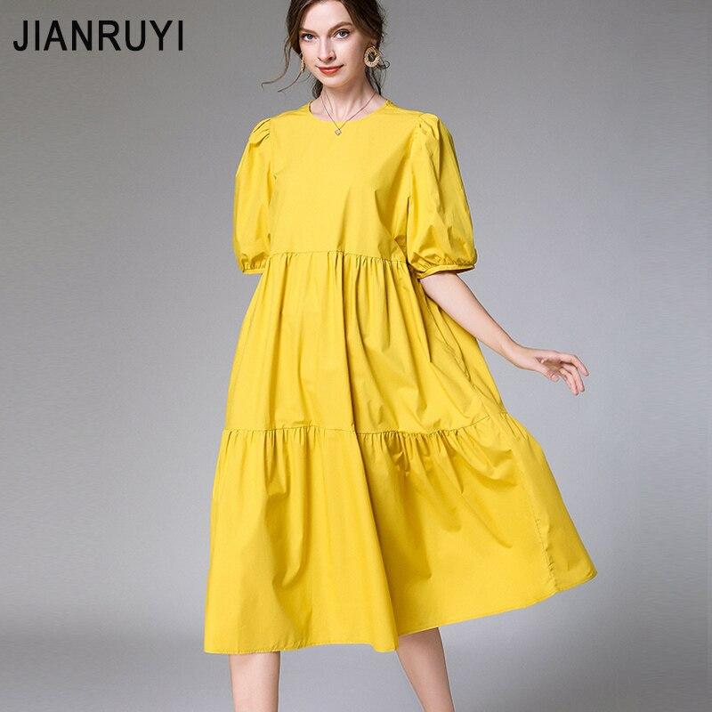 Européenne et américaine grande taille femmes été 2020 nouveau gros mm200 kg en vrac mode à volants couture robe 7866