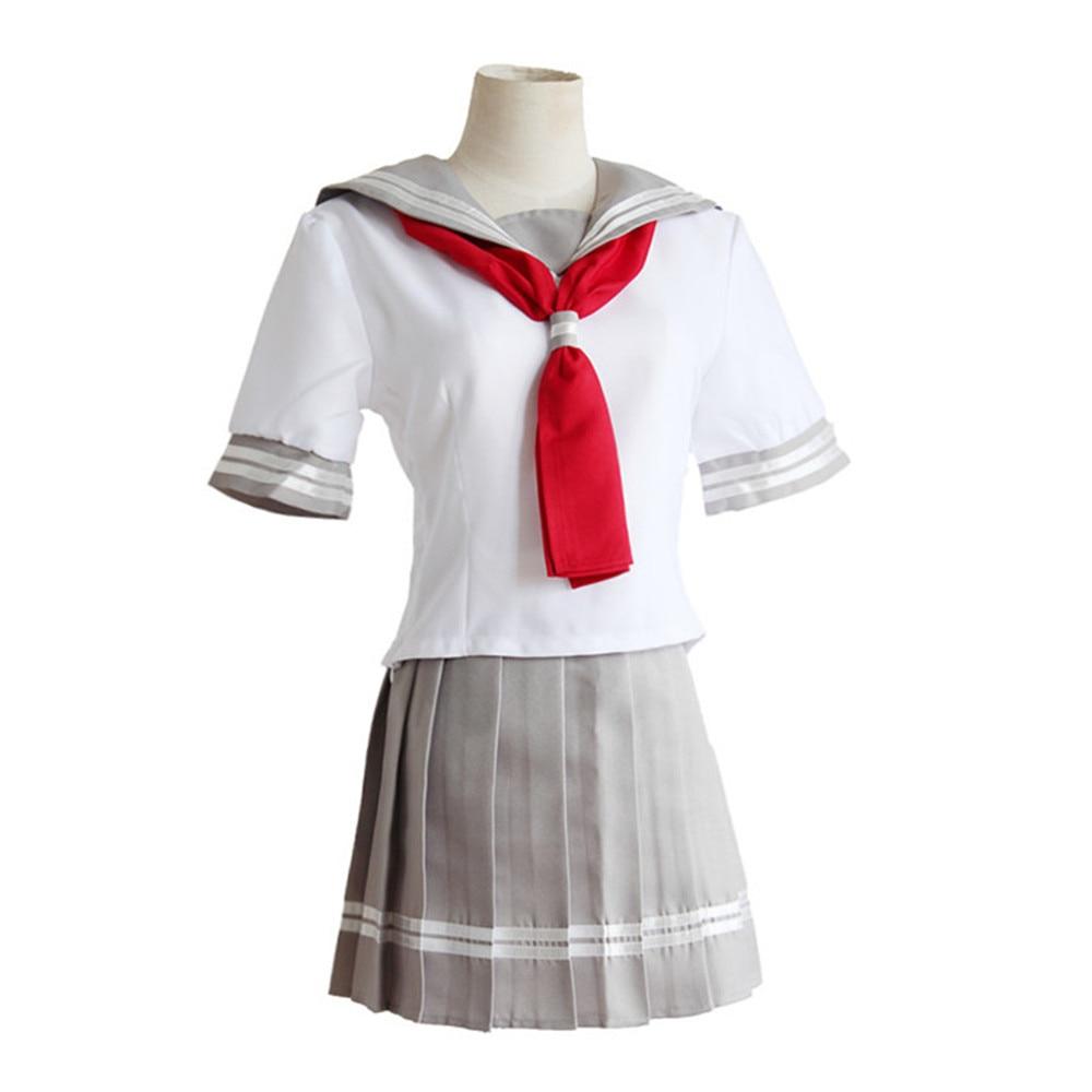 Japanese Anime Love Live Sunshine Cosplay Costume Takami Chika Girls Sailor Uniforms Love Live Aqours School Uniforms