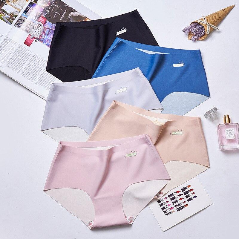 Women's Viscose Modal Seemless WOMEN'S Panties Solid Knicker Breathable Medium Waist Sexy Panties Briefs