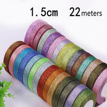 15mm colorido cebolas cinto organza fita caixa de bolo de natal presente embalagem artesanato arco artesanal cebola fita (25 jardas/rolo)