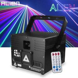 ALIEN 1W 2W DMX Ilda RGB animación Proyector láser escáner profesional escenario Iluminación DJ Disco Bar Club fiesta boda efecto