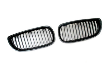 Carbon Fiber Style Sport Front Grille Replacement For BMW E92 3 Series