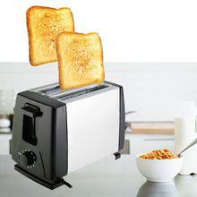 Бытовой автоматический прибор для хлеба тостер для выпечки завтрака машина из нержавеющей стали 2 ломтика слота хлебопечка кухня тостеры машина