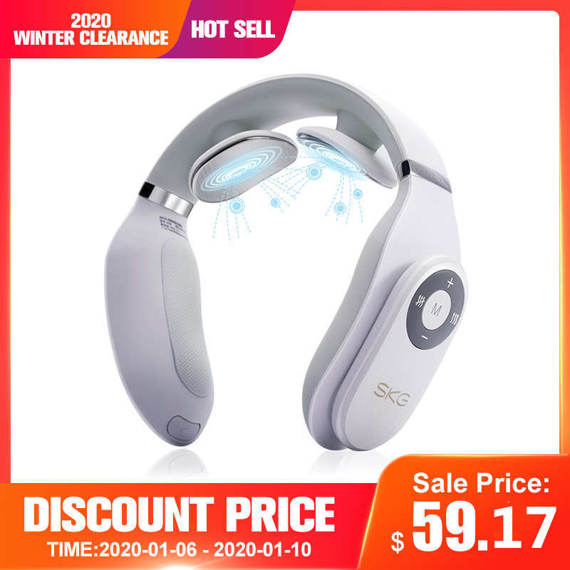 SKG Smart Electric Neck Massager Heating Pain Relief Tool 3D Wireless Deep Tissue Body Massage Health Care Relaxation For Travel