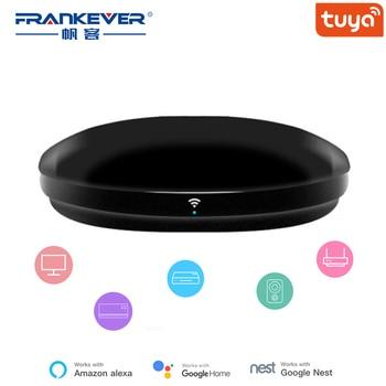 FrankEver Smart IR Remote Control WiFi Blaster Controller Universal Repeater Hub Work with Alexa Tuya APP Household