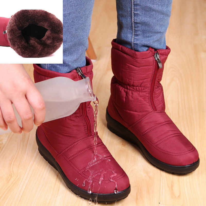 Snow Boots Women Boots Warm Waterproof Cotton Booties Winter Shoes Women Ankle Boots Female Winter Boots Bota Women Botas Mujer