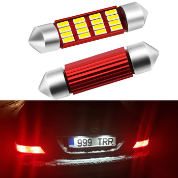 2x CANBUS Error Free C5W 36mm LED License Plate Light for Mercedes Benz W208 W209 W203 W169 W210 W211 W212 AMG CLK Festoon Light image