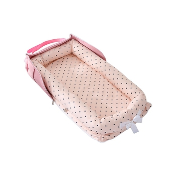 baby bed portable baby bassinet bed comfortable newborn travel bed cradle safety infant bassinet cribs Portable Baby Lounger Nest Bed for Baby Infant Travel Bed Cotton Cradle Crib Newborn Bedside Bassinet Cosleeper for Baby