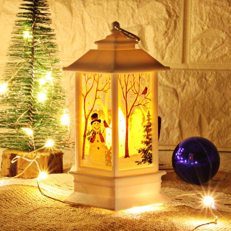 Рождественский светильник s лампа настольная наружного освещения Светодиодный окрашенный светильник подсвечник светильник s винтажный ночной Светильник Санта Снеговик Олень торшер Иисус - Испускаемый цвет: white-snowman