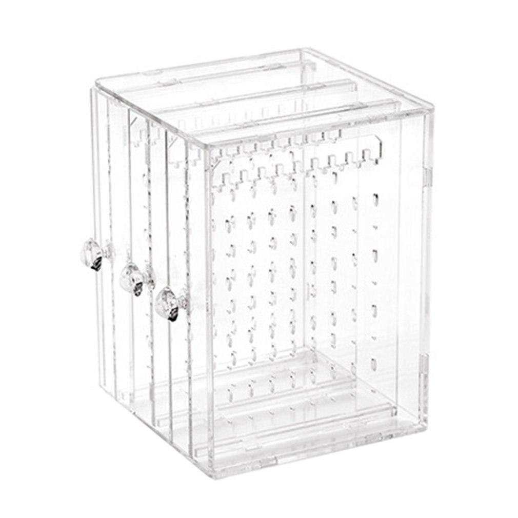Transparent Women Jewelry Display Shelf Practical Desktop Earrings Holder Storage Container Rack Display Dropshipping
