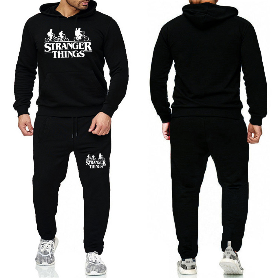 Mens Tracksuits 2019 Stranger Thing Survetement Homme Stranger Things Men/Women Sportswear Two Piece Sets Plus Size Track Suit