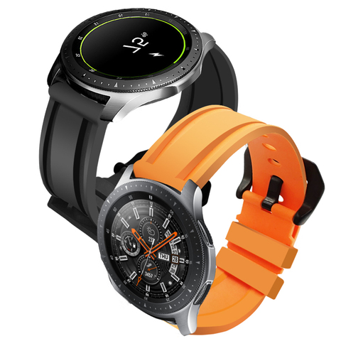 Pulseira de Borracha Macia do Esporte para Amazfit Pulseira de Relógio para Samsung Huawei Gt2 Galaxy Relógio 46 Engrenagem s3 22mm Cinta Gtr 47mm gt –