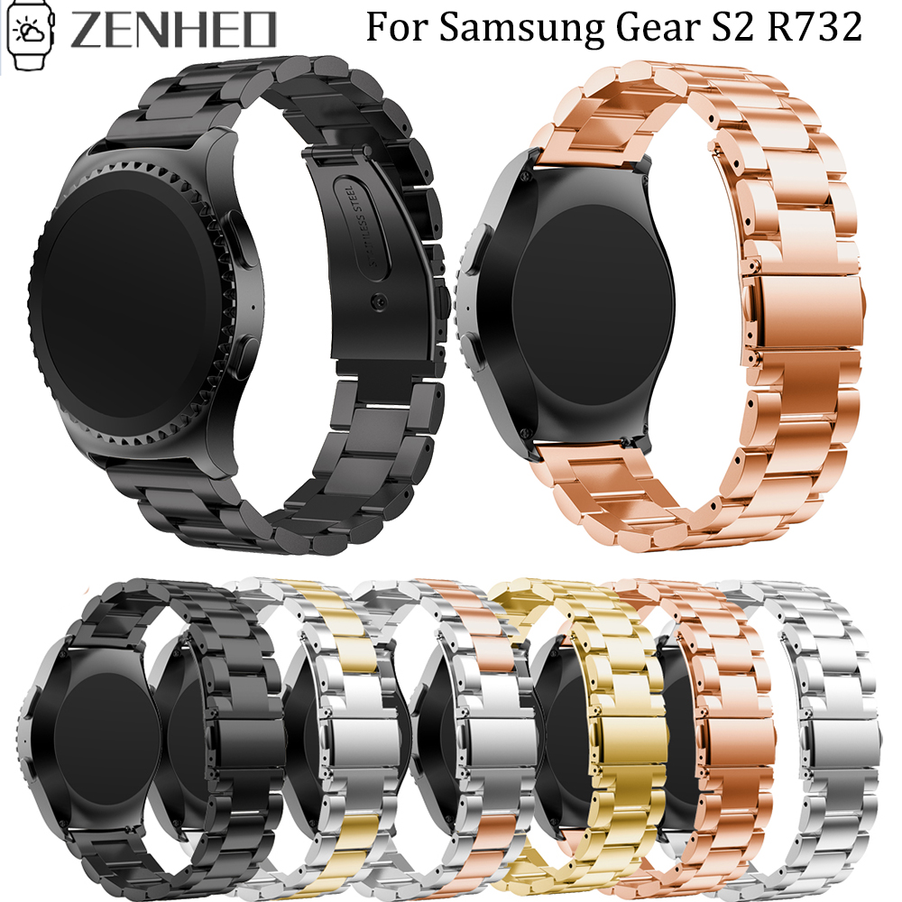 20mm Stainless Steel Band Strap For Samsung Gear S2 R732 Replacement Bracelet Wristband For Samsung Gear Sport Watch Band
