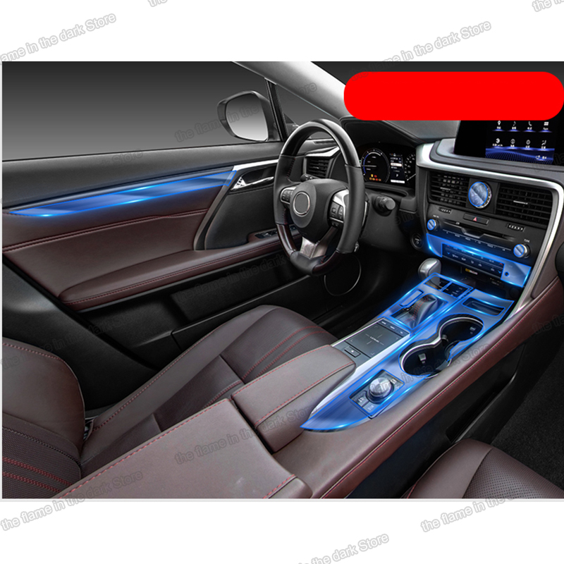 Lsrtw2017 TPU Car gear door dashboard Film Protective Sticker for Lexus RX <font><b>RX200</b></font> RX300 RX450H 2017 2018 2019 2020 anti-scratch image