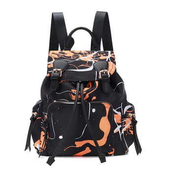 outdoor casual nylon backpack camouflage color large capacity shcool rucksack