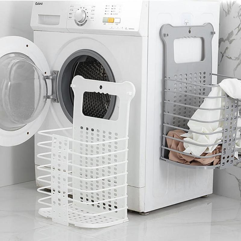 Originality Folding Laundry Cloth Basket Wall Hanging Safety Material Healthy Non-toxic Free Punching Clothing Toy Sundry Case