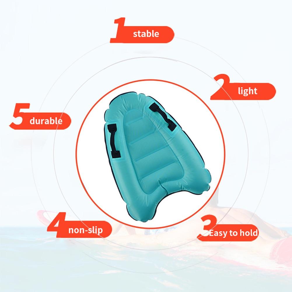 H1a5d9b00ba3849519120e18416ef4242Z - Outdoor Inflatable Surfboard Solid Color Buoy Kickboard Kids Safe Sea Surfing Board Swim Lightly Kick Board Surfing Bodyboard