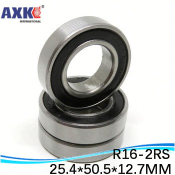 """High Quality R16-2RS shielded bearing inch series 1""""x 2""""x 1/2"""" inch 25.4*50.8*12.7 mm  miniature shielded ball bearing"""
