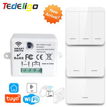 Mini Wifi Smart Home Control Switch 433mhz Wireless Light Remote Control Module AC 220V 10A Compatible Socket Alexa Google Home