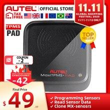 AutelAutel herramienta de diagnóstico de neumáticos MaxiTPMS Pad, Monitor de programación de presión de neumáticos, programador de Sensor Autel MX, herramienta TPMS, sensores de Autel
