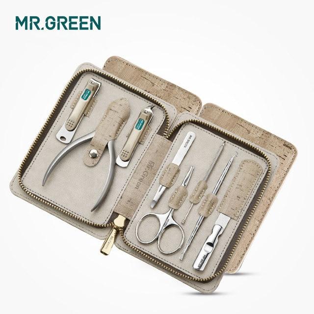 MR.GREEN 8 w jednym zestaw do pielęgnacji zestaw obcinaków do paznokci toe finger zestaw nożyczek ze stalowymi ćwiekami nożyce nożyczki narzędzia do manicure