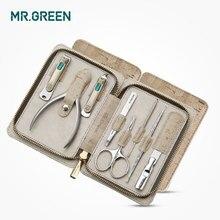 MR.GREEN kit de aseo 8 en 1, cortauñas, juego de tijeras para los dedos del pie, cortaúñas tijeras de manicura de acero inoxidable