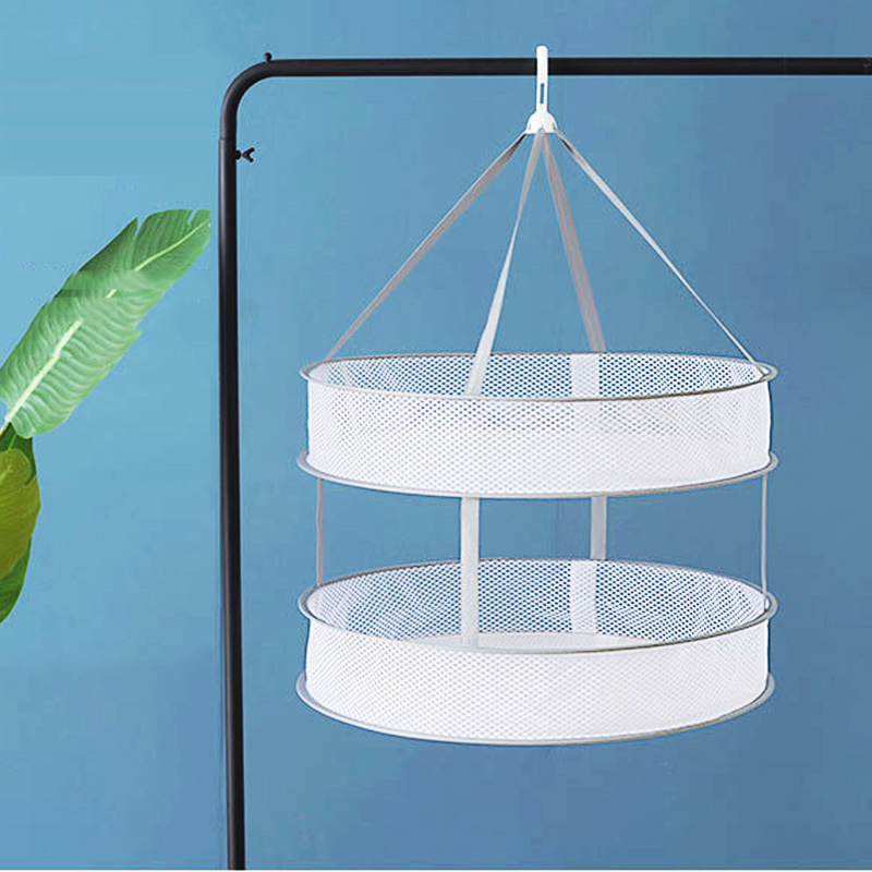 3Layer Drying Rack Net Foldable Hanging Clothes Bra Laundry Sweater Dryer Basket