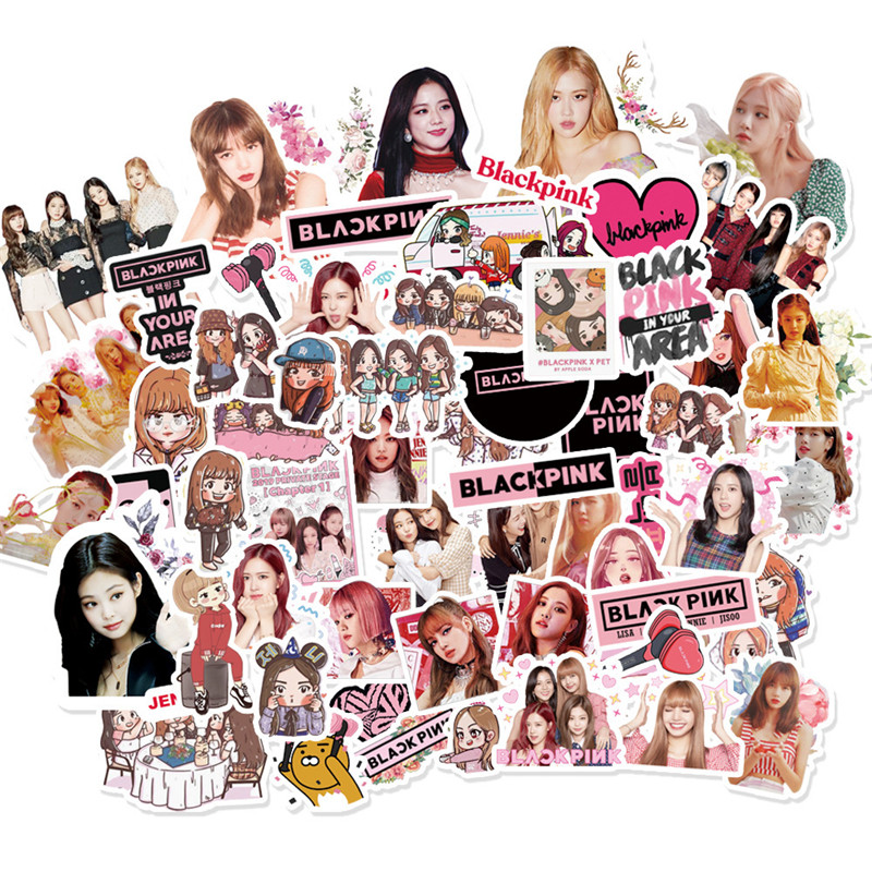 KPOP BlackPink 65pcs Stickers Cartoon Stickers Fridge Stickers Kill This Love JISOO LISA ROSE JENNIE Fans Collection jh595(China)