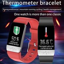 Lerbyee T1s Smart Horloge Body Temperatuur Ecg Fitness Horloge Hartslagmeter Muziek Control Bluetooth Smartwatch Mannen Vrouwen 2020