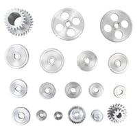 18Pcs/Set CJ0618 Metal Gears Mini Lathe Gear Metal Cutting Machine Tool Gear