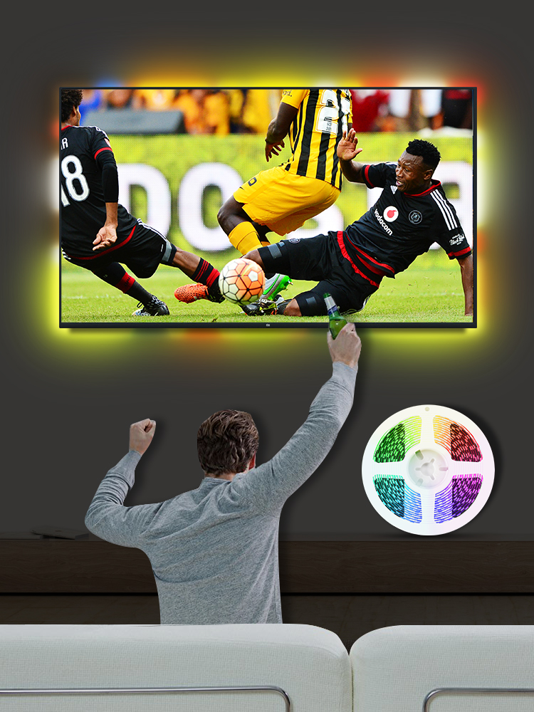 Led-Strip Pc-Screen Backlight-Lighting Light-5050 TV Dream Desktop 3M RGB USB for 1M