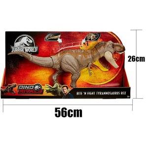 Image 5 - Oryginalny 56cm świat jurajski Bite walka Tyrannosaurus Rex duży konkurencyjny film Model dinozaura figurka zabawka dla dzieci