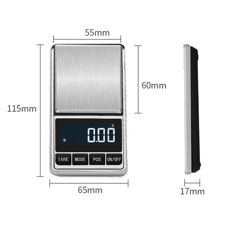 Balance de bijoux numérique haute précision Portable balance de poche rétro-éclairage affichage LCD balance balance de gramme échelle précision Portable
