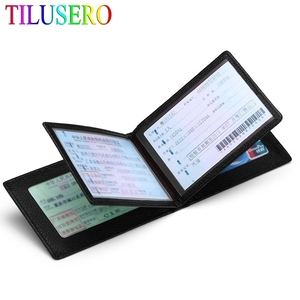 Driver License Holder Pu Leather on Cover for Car Driving Documents Business ID Pass Certificate Folder Wallet