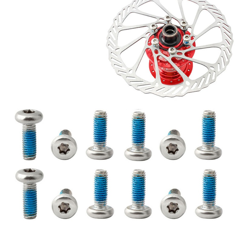 12 pces bicicleta chainring parafusos de aço inoxidável material, durável, anti-afrouxamento cola parafusos com chave peças de bicicleta conjunto quente