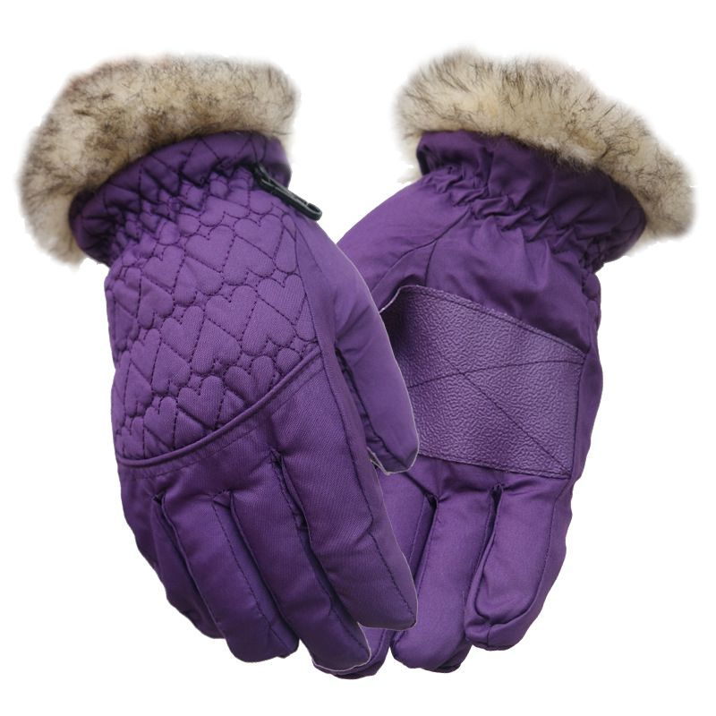 Ski Gloves Windproof Heat Preservation Water Repellent Cold Resistance Snow Gloves For  Mountain Climbing For 5-12 Years Old Boy