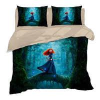 Disney Bed Cover Set Merida Princess Bedding Queen Size Quilt Duvet Covers for Girls Bedroom Decor Full Coverlets King Kids Home