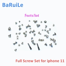 BaRuiLe 5 סטים מלא ברגים סט עבור iPhone 11 פרו מקסימום עם תקע תחתון בורג החלפת חלקים