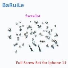 BaRuiLe 5sets Komplette Voll Schrauben Set Für iPhone 11 Pro Max Mit Stecker Untere Schraube Ersatz Teile