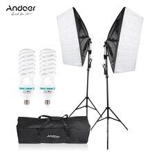 CZ Andoer 사진 스튜디오 우산 Softbox 조명 조명 텐트 키트 사진 비디오 장비 2*135W 전구 2 * 삼각대 스탠드 2 * Softbox