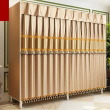 Cloth Wardrobe Double-Hanging All-Steel-Frame Bold Reinforced Thickening Simple