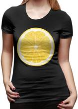 Lemon half женский базовый топ с коротким рукавом футболки вырезом