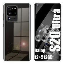 Versão global telefones celulares 7.2 tela hdinch s20 ultra smartphone android 10.0 rosto de tela cheia id celulares duplo sim