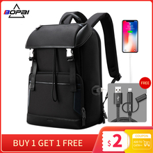 BOPAI Anti-theft Backpack Male Large Capacity Outdoor Portable 15.6 inch Laptop Fashion Casual Men's Backpack taoleqi new arrivals anti theft men women backpack for 15 6inch laptop backpack large capacity casual school backpack bags male