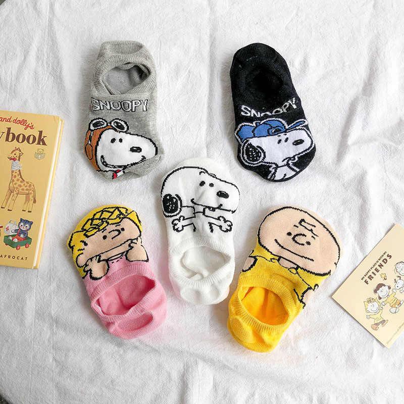 Hàn Quốc Mùa Hè Vớ Nữ Dễ Thương Động Vật Hoạt Hình Chó Vớ Mắt Cá Chân Cotton Mỏng Vô Hình Sock Dép Ngộ Nghĩnh Thuyền Tất Dành Cho Bé Gái trẻ Em
