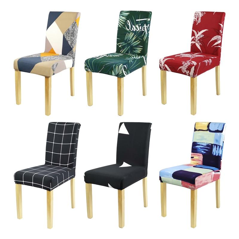 Новая накидка на стул из спандекса, эластичные Чехлы для стула, обеденные Чехлы, Декоративные Чехлы для стула, цветочные чехлы для кухни, сва...